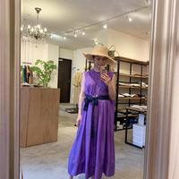 【mieyamieya ミエヤミエヤ】silk  onepiece (シルクワンピース)purple