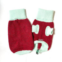 【HAINU ハイヌ】ANGORA×GLITTER SWEATER  (セーター)RED/MINT  M/Lサイズ