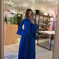 【mieyamieya ミエヤミエヤ】 リネンローブ2wayドレス  -コバルトブルー