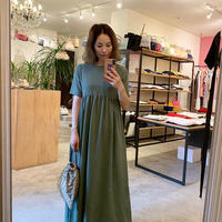 【Bed&Breakfast】Dry Stretch Dress in Olive