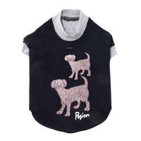 【PEGION/ペギオン】Two Dogs T-shirts for Dog  (ツードッグスティー)black/grey