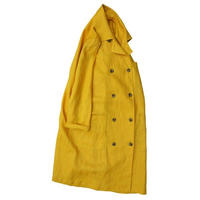 No.247co(yellow) リネンWボタンコート/イエロー