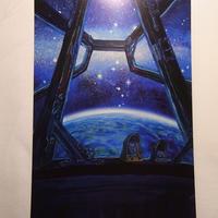 『宇宙をskipする時間』『てのひらに眠るプラネタリウム』  ポストカードB