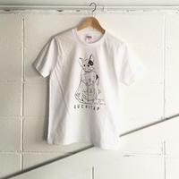 オリジナルTシャツ「ワタシモキャンプニツレッテッTee」ホワイト×ダークブラウン