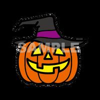 【POP素材】ハロウィンかぼちゃイラスト