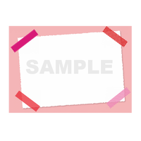 【POPテンプレート】マスキングテープ(ピンク)