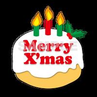 【POP素材】クリスマスケーキイラスト