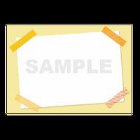 【POPテンプレート】マスキングテープ(黄色・イエロー)