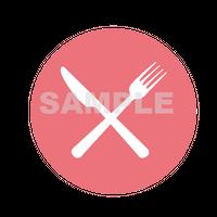 【POP素材】ナイフとフォークのイラスト