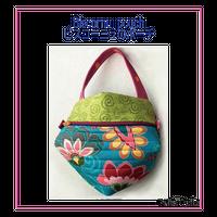 ビスコーニュのポーチ Biscornu pouch