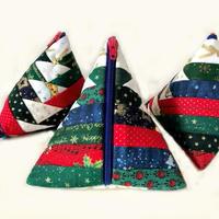 クリスマスツリのテトラポーチChristmas Tree pouch