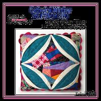 カテドラルウィンドウクッションCathedral window.Sweet dream Pillowスイートドリームクッション