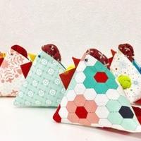 可愛いとりちゃんの三角ポーチPouch