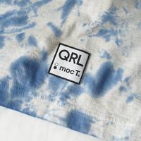 QRL × mocT「タイダイ柄Tシャツ」(ブルー)