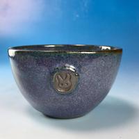 【Y049】淡青赤土の湯呑み茶碗(淡青赤土・うさぎ印)