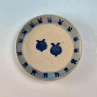 【S060】豆皿(呉須手描き・うさぎ印)
