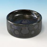 【P041】うさぎ水玉模様のうさぎ様用食器ミニ(パープル・赤土・うさぎ印)