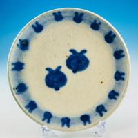 【S021】豆皿(呉須手描き・うさぎ印)