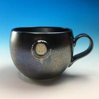 【M155】エンブレムマグカップ小(銀彩釉・うさぎ印)
