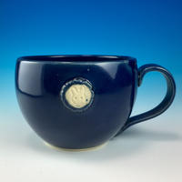 【M159】エンブレムマグカップ大(ネイビー・うさぎ印)