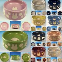 【Reserved item】うさぎ水玉模様のうさぎ様用食器・Mサイズ、MLサイズ、Lサイズ(選べるカラー10色・うさぎ印)