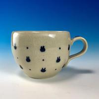 【M241】豆うさぎ柄のマグカップ小(呉須手描き・うさぎ印)