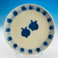 【S024】豆皿(呉須手描き・うさぎ印)