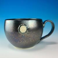 【M162】エンブレムマグカップ大(銀彩・うさぎ印)