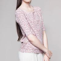 MASKA〈マスカ〉/ 5分丈Tシャツ【ANNA Fine T-shirt】