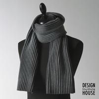 DESIGN HOUSE Stockholm〈デザインハウス・ストックホルム〉/ ショートマフラー【Pleece Collection】ダークグレー