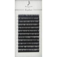 Jet Black Feather Lash J-curl Thickness 0.06mm Size Mix 9mm ~14mm