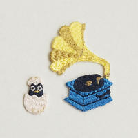 蓄音機/ひな  - 刺しゅうワッペン