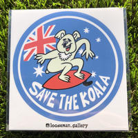 【loose man】save the koala sticker