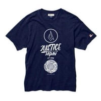 【JUSTICE】ICON LOGO 5.3oz INDIGO-TEE