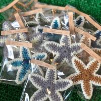 再入荷!ギフトに最適!ハンドメイド雑貨【umichica】STAR FISH washer & コースター