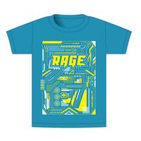 【BEAMSデザイン】RAGE ASIA 2020 オフィシャルTシャツ  MECHANIC LIGHTBLUE