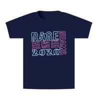 【BEAMSデザイン】RAGE ASIA 2020 オフィシャルTシャツ  NEON NAVY
