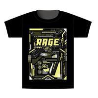 【BEAMSデザイン】RAGE ASIA 2020 オフィシャルTシャツ  MECHANIC YELLOW
