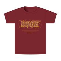 【BEAMSデザイン】RAGE ASIA 2020 オフィシャルTシャツ  TECHNO RED
