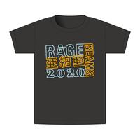 【BEAMSデザイン】RAGE ASIA 2020 オフィシャルTシャツ  NEON BLACK