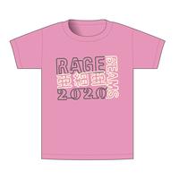 【BEAMSデザイン】RAGE ASIA 2020 オフィシャルTシャツ  NEON PINK