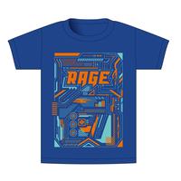 【BEAMSデザイン】RAGE ASIA 2020 オフィシャルTシャツ  MECHANIC BLUE