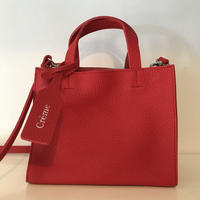 3pocket牛革bag/small RED