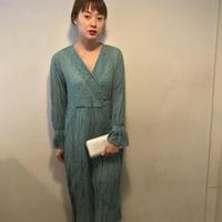 てんてんドットシワカシュワンピース/mintgreen