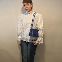 cottonレースブラウス/WHITE
