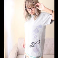 Blue Jelly Fish Tシャツ(グレー)