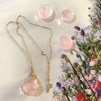 P.Obsidian Chain Wrap Necklace / ピンクオブシディアン チェーンラップネックレス