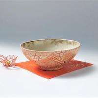 赤格子古紋 平碗|内田 裕子