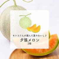 【みずみずしい初夏の甘さ】モトコさんが選んだ夕張メロン 2個セット【ご注文後7日以内に発送】