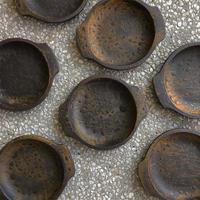 鉄釉耳付き耐熱皿